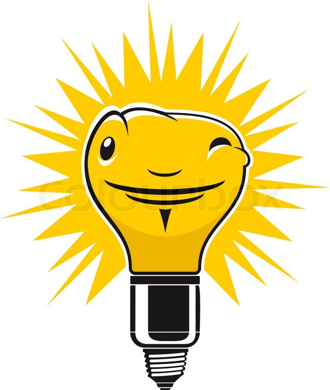 Light Bulb Symbol Isolated On White For Creative Design Stock