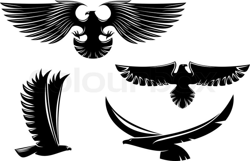 Eagle image black and white