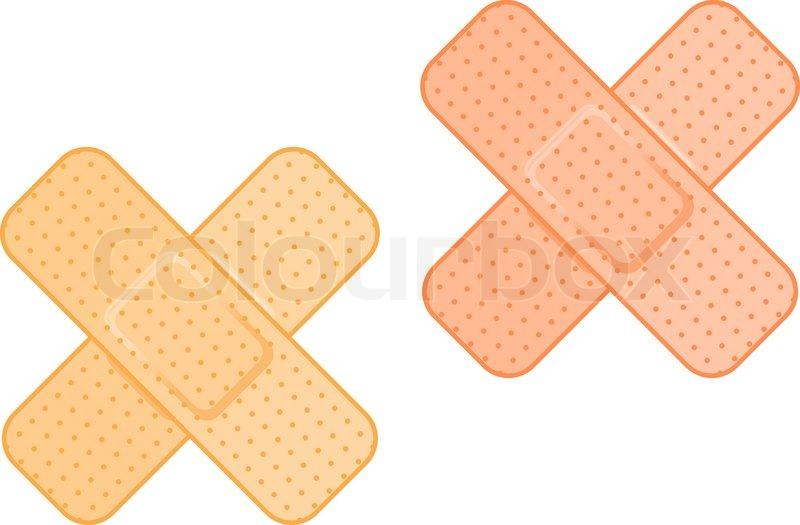 medizinische pflaster f r erste hilfe isoliert auf wei vektorgrafik colourbox. Black Bedroom Furniture Sets. Home Design Ideas