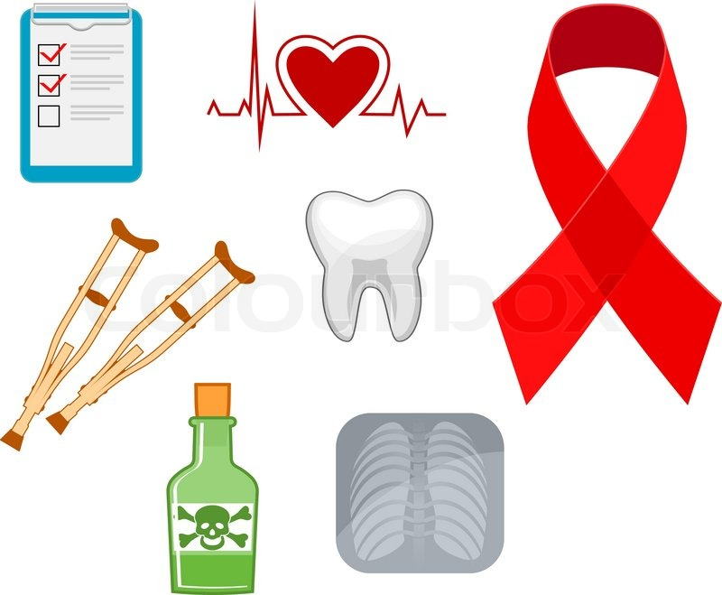 Medicine Icons And Symbols For For Hospital And Science Design