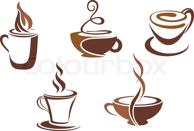 Coffee And Tea Symbols And Icons For Food Design Stock Vector