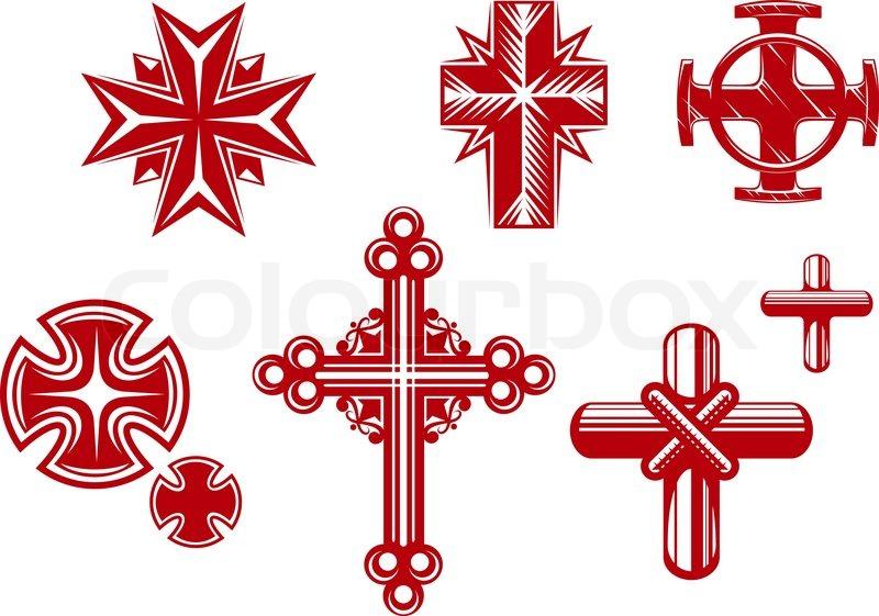 Set of religious cross...