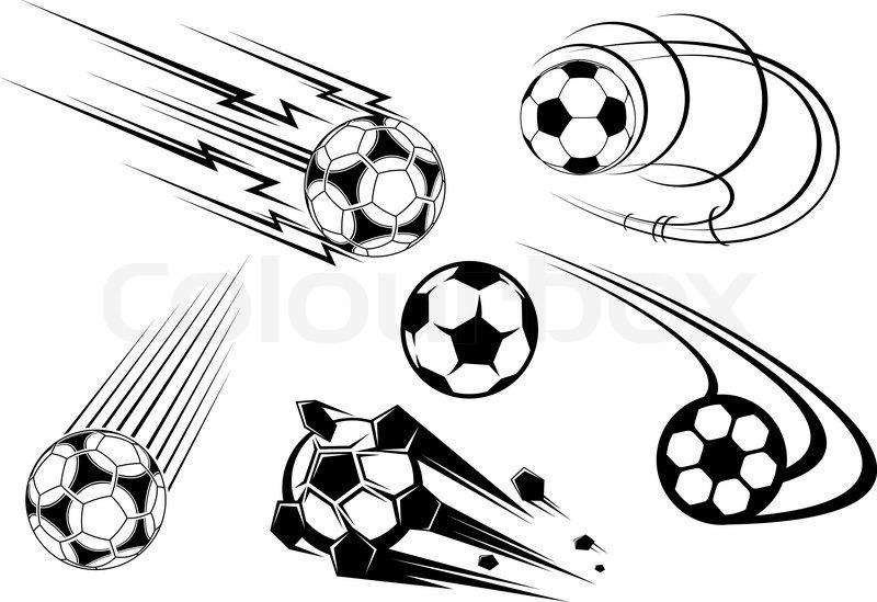 fu ball und fu ball symbole maskottchen und embleme f r sport design vektorgrafik colourbox. Black Bedroom Furniture Sets. Home Design Ideas