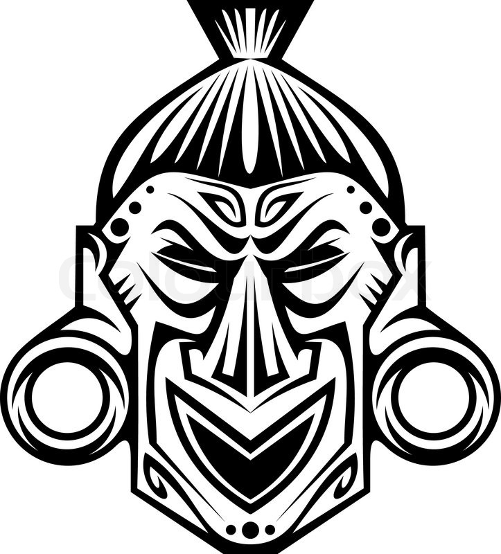 free coloring pages of tribal african mask. Black Bedroom Furniture Sets. Home Design Ideas