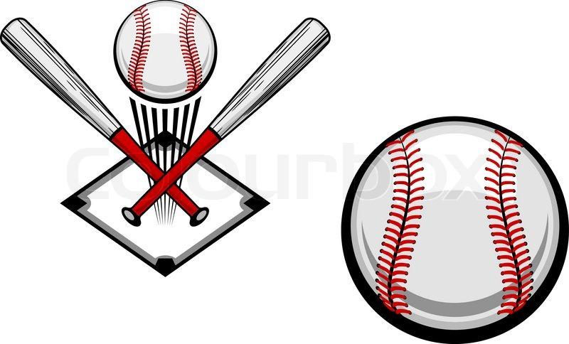 Baseball Emblems Set For Sports Design Or Mascot Vector Colourbox