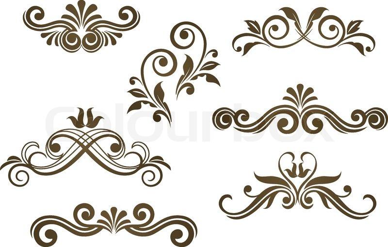 rococo motif vintage floral - photo #40
