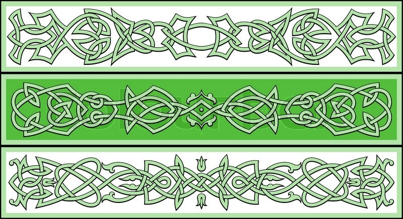 Celtic Ornaments And Patterns For Stock Vector