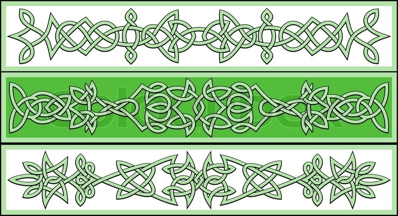 Celtic Ornaments And Patterns For Irish Or Religious Design Stock Interesting Irish Patterns