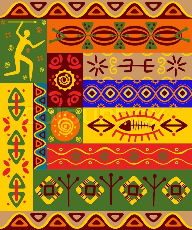 abstract ethnic patterns and ornaments for design  stock