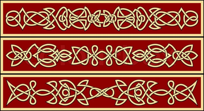 Celtic Ornaments And Patterns For Irish Or Religious