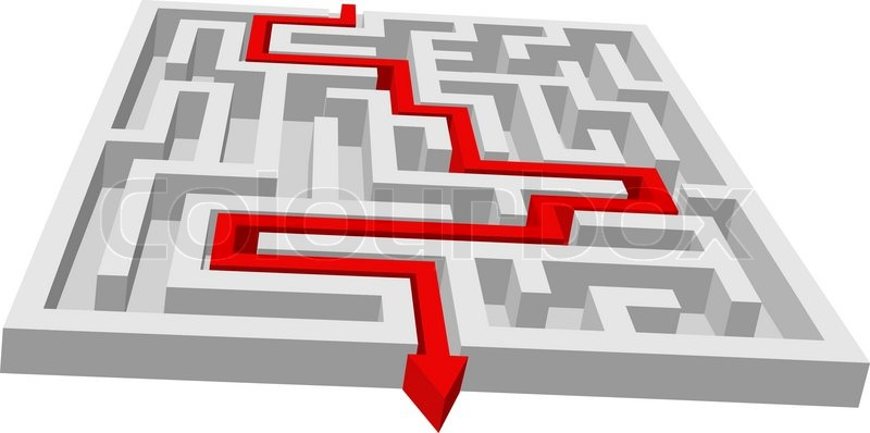 Labyrinth Maze Puzzle For Solution Stock Vector Colourbox