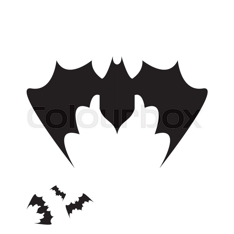 vector halloween bat icon vector bat silhouette isolated on white stock vector colourbox