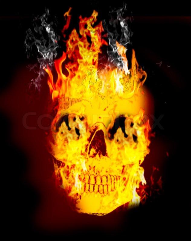 Fire skull on dark black dackground stock photo colourbox fire skull on dark black dackground stock photo voltagebd Choice Image