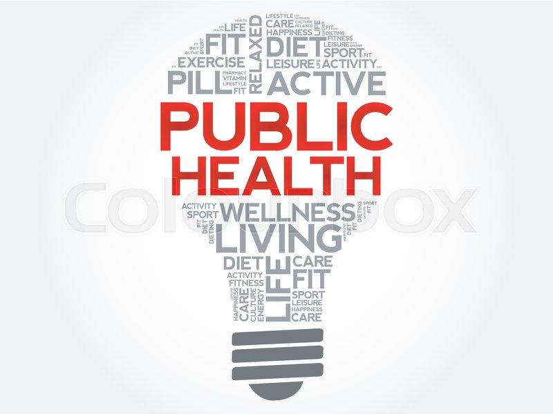 Public Health Bulb Word Cloud Health Stock Vector Colourbox