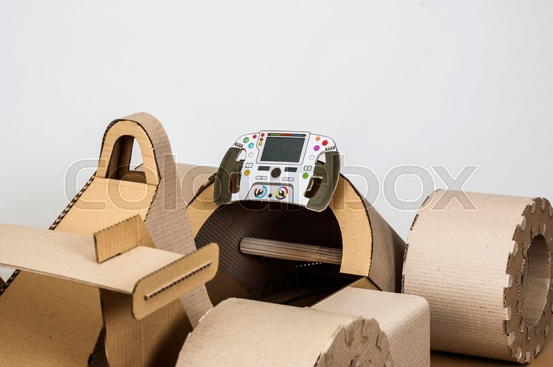 close up photo of cardboard racing car interior stock photo colourbox. Black Bedroom Furniture Sets. Home Design Ideas