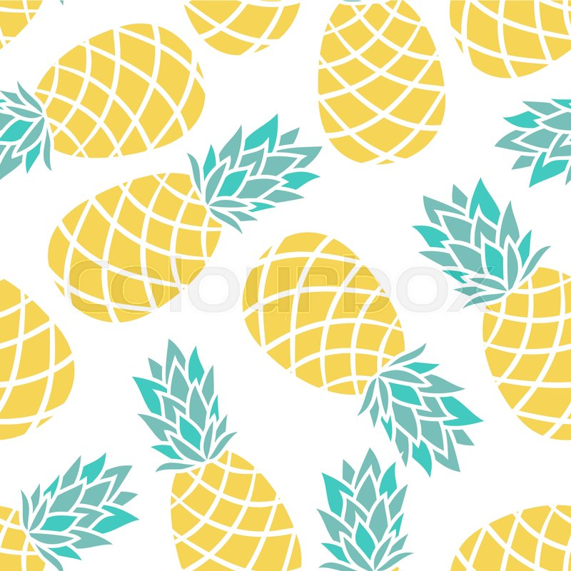 cartoon pineapple on a white background simple vector background