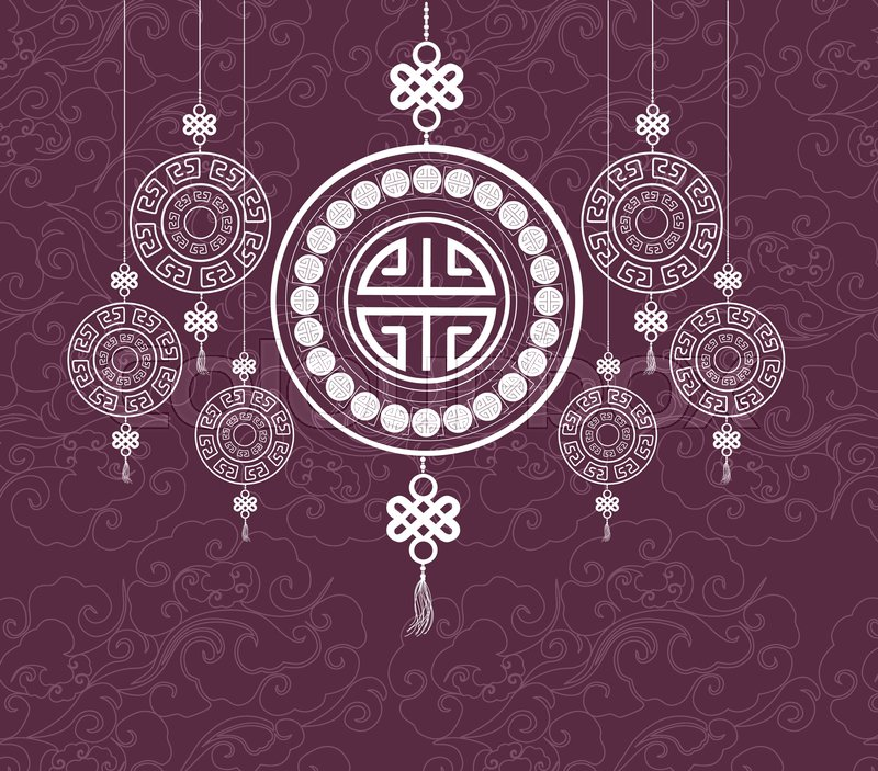 Oriental Happy Chinese New Year Pattern Design