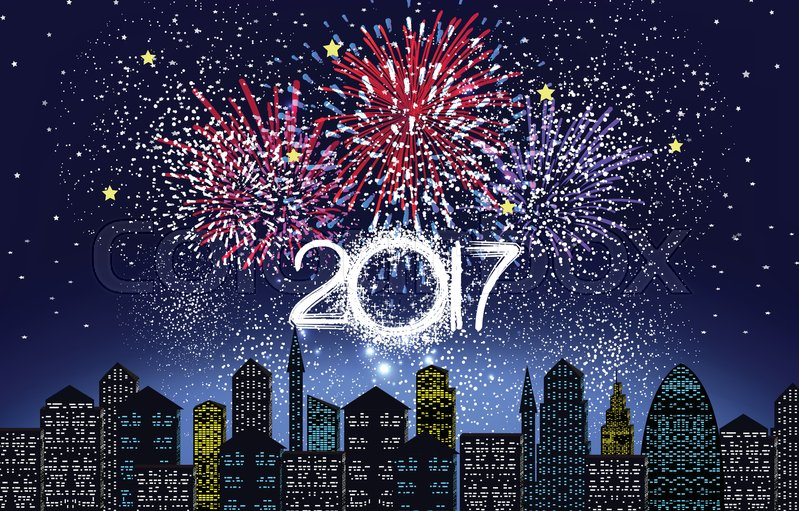 Happy New Year 2017 Written With Stock Vector Colourbox