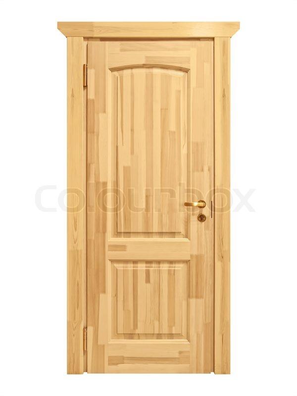 Geschlossene Holztür