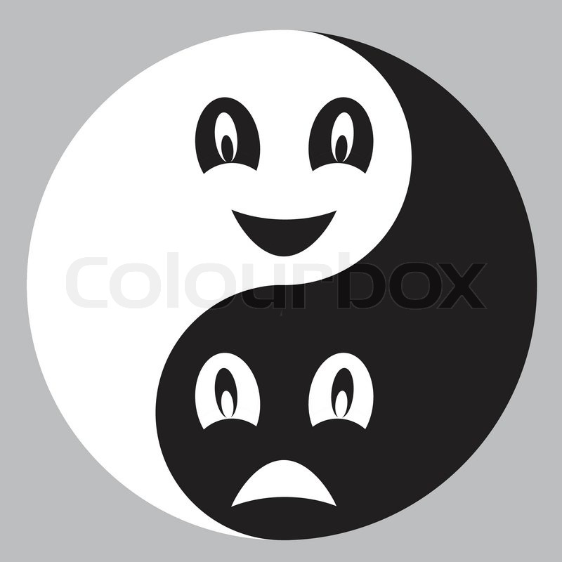 Stock Vector Of Two Persons Opposite As A Matter Fact In Black And White