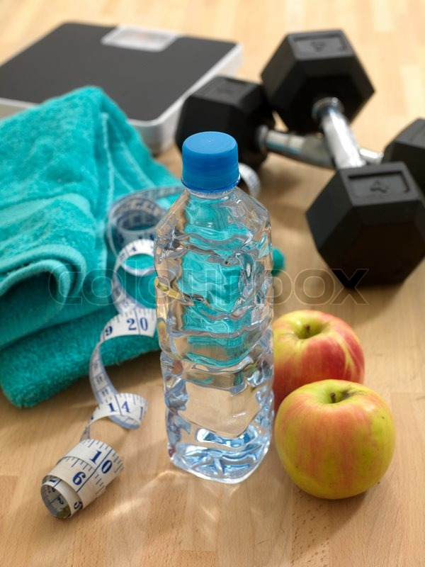 Health And Fitness Equipment Isolated Against A White