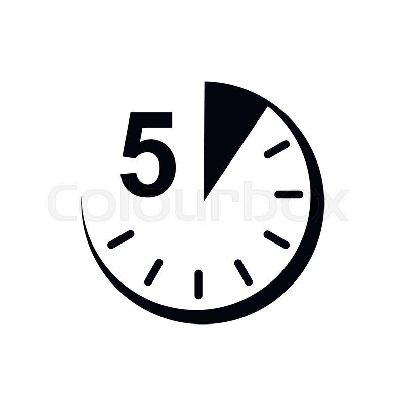 5 minutes clock