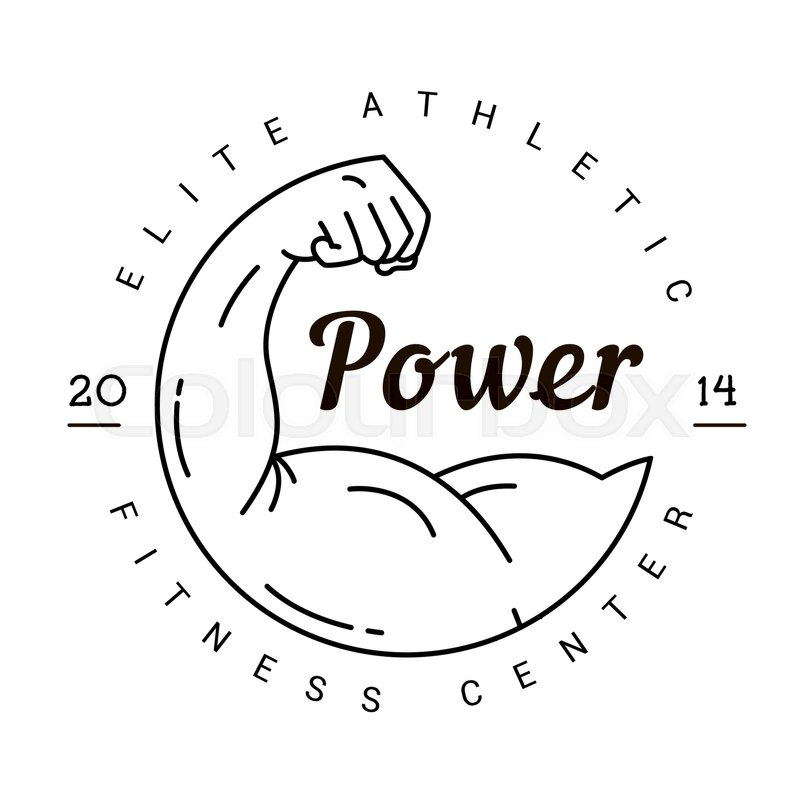 A Symbol Of Strength Logo For A Fitness Club In Vintage Style