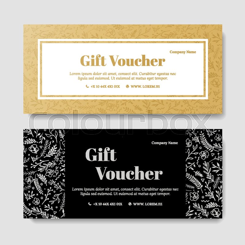 Gift Premium Voucher Coupon Template Stock Vector Colourbox