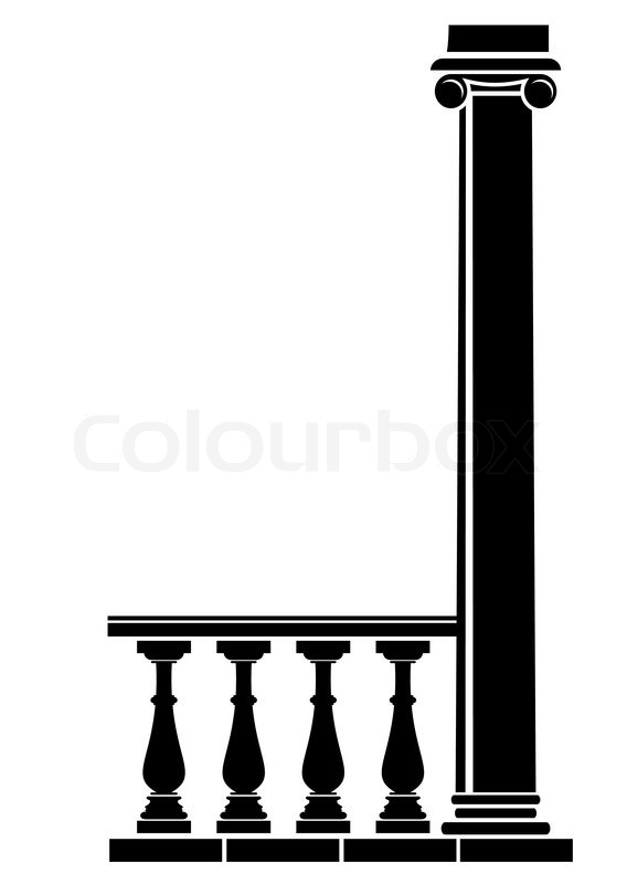 Architectural Element Silhouette Of Balustrade And