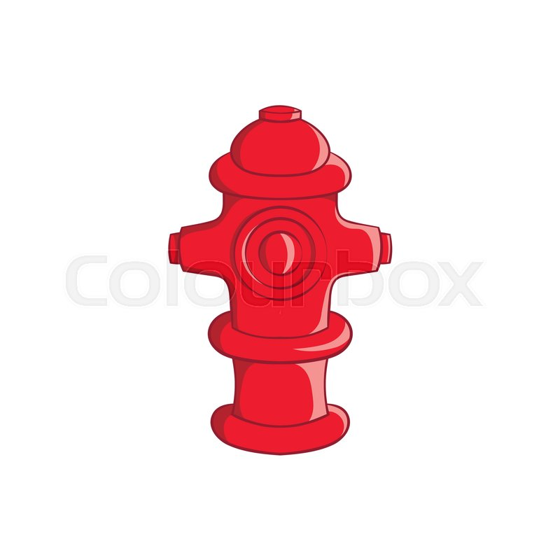 Fire Hydrant Icon In Cartoon Style Isolated On White Background