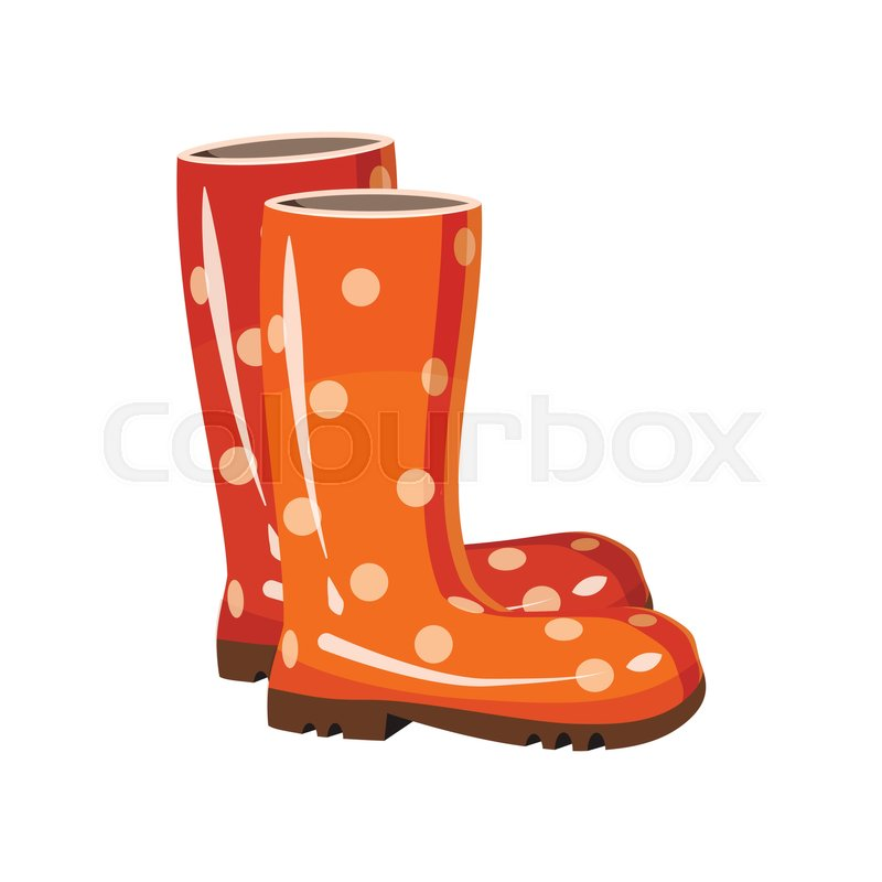f20ac161b9d Stylish rubber boots icon in cartoon ... | Stock vector | Colourbox