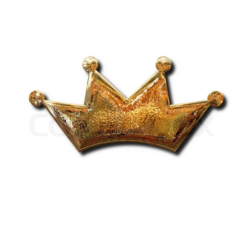 Golden Crown Sign Isolated Object With Shadow Stock Photo Colourbox