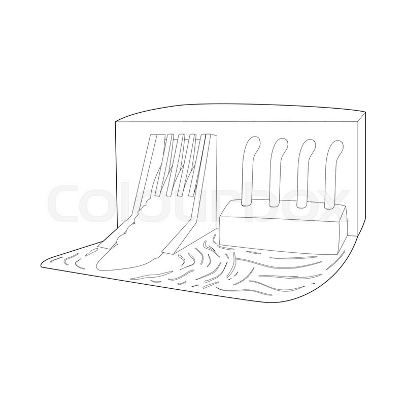 water dam icon in outline style isolated on white