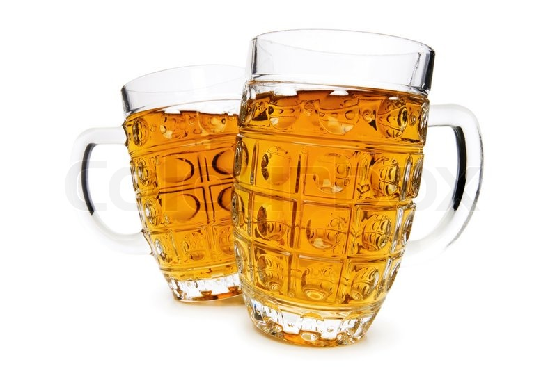 Beer Glasses Isolated On The White Background Stock
