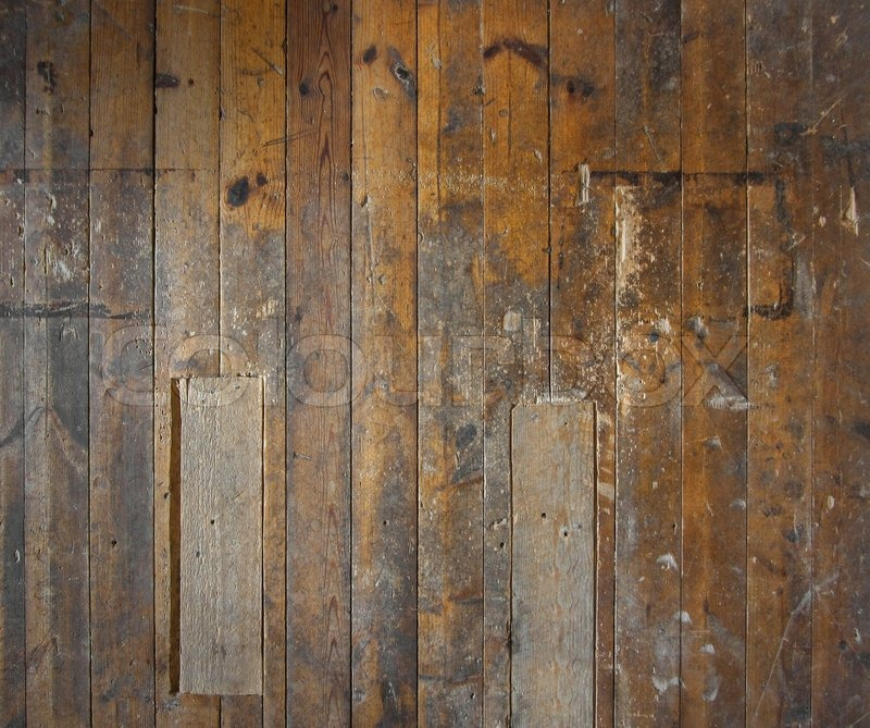 Old Aged Wooden Plank Floor Or Wall Stock Photo
