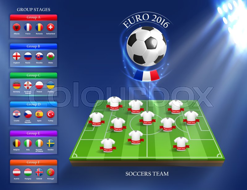 Stock image of 'Euro 2016 group stage concept for any design'