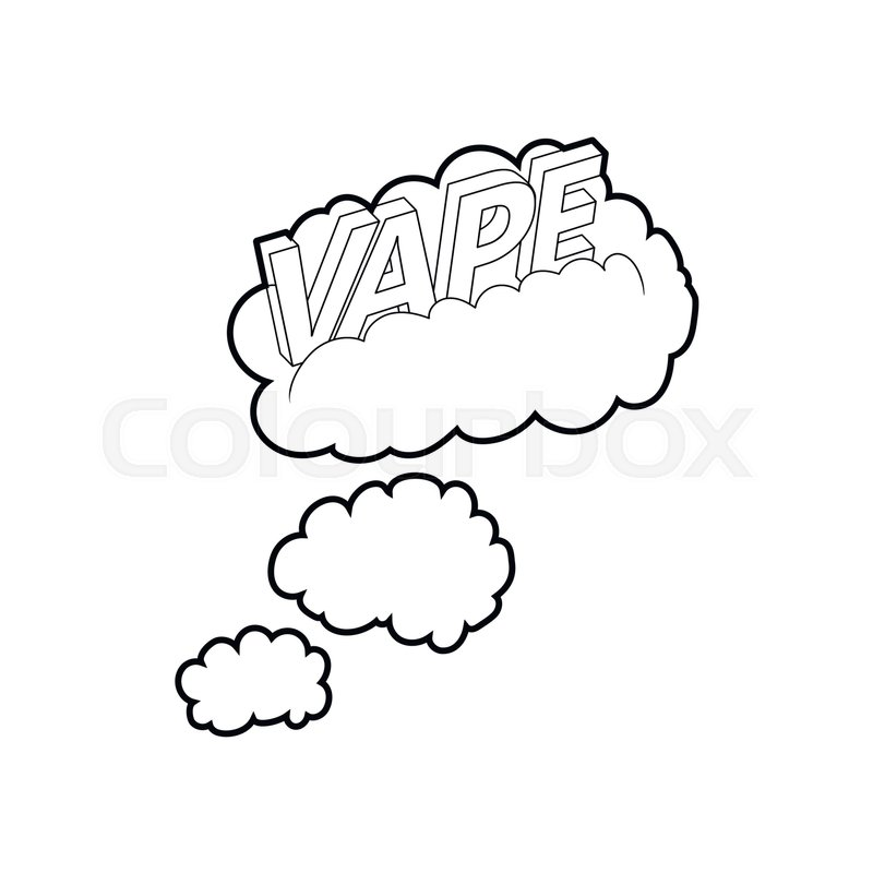 Vape clouds icon in outline style     | Stock vector | Colourbox
