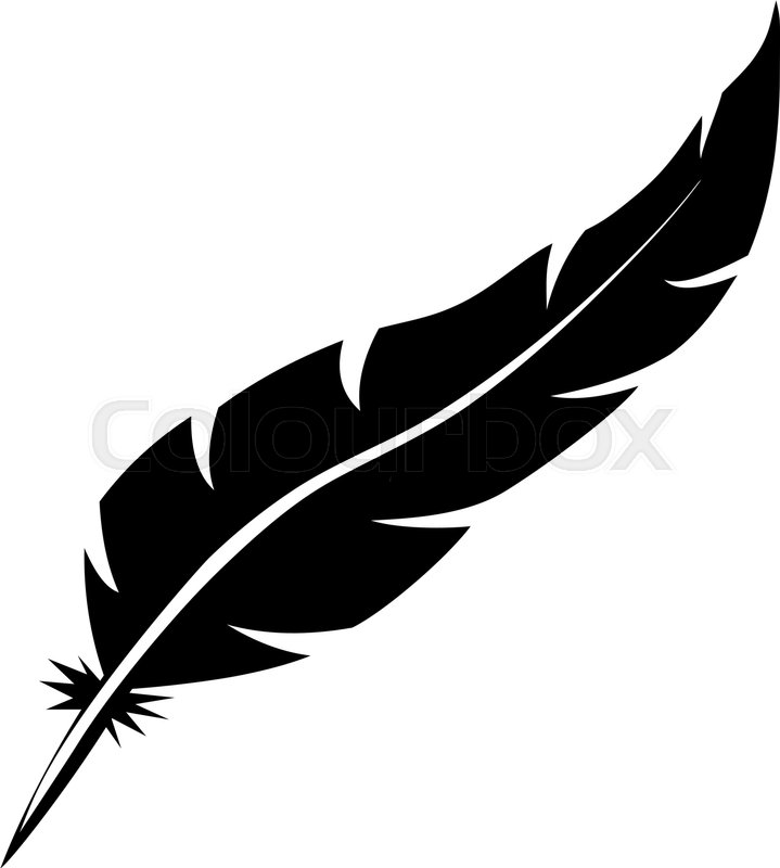 blank bird feather vector shape isolated on white background rh colourbox com feather vector images feather vector design