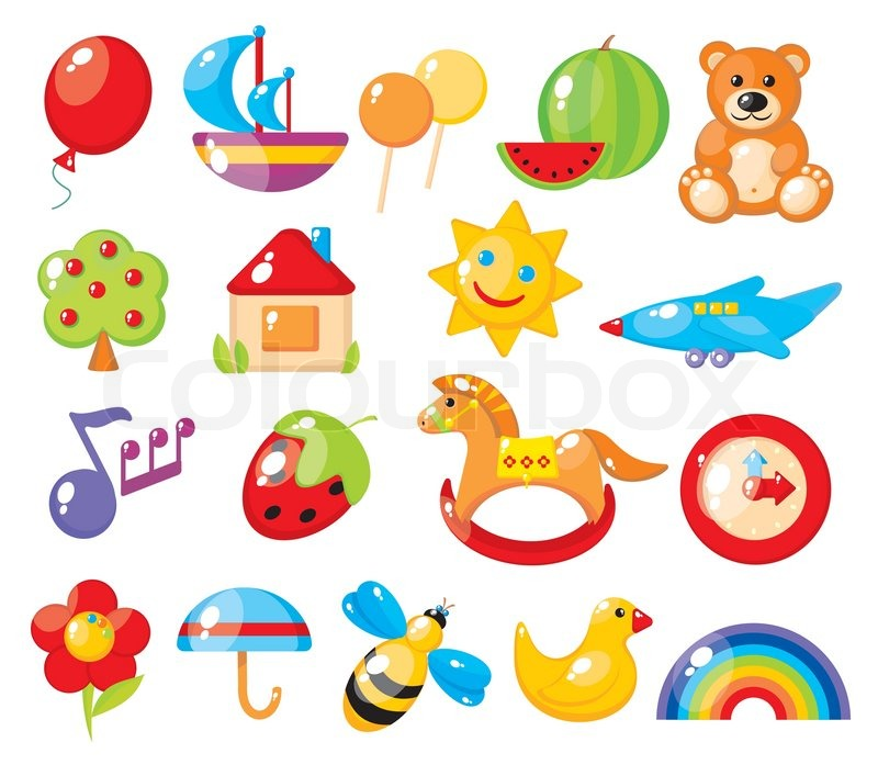 set of colorful childrens pictures for kindergarten stock vector colourbox - Pictures For Kindergarten