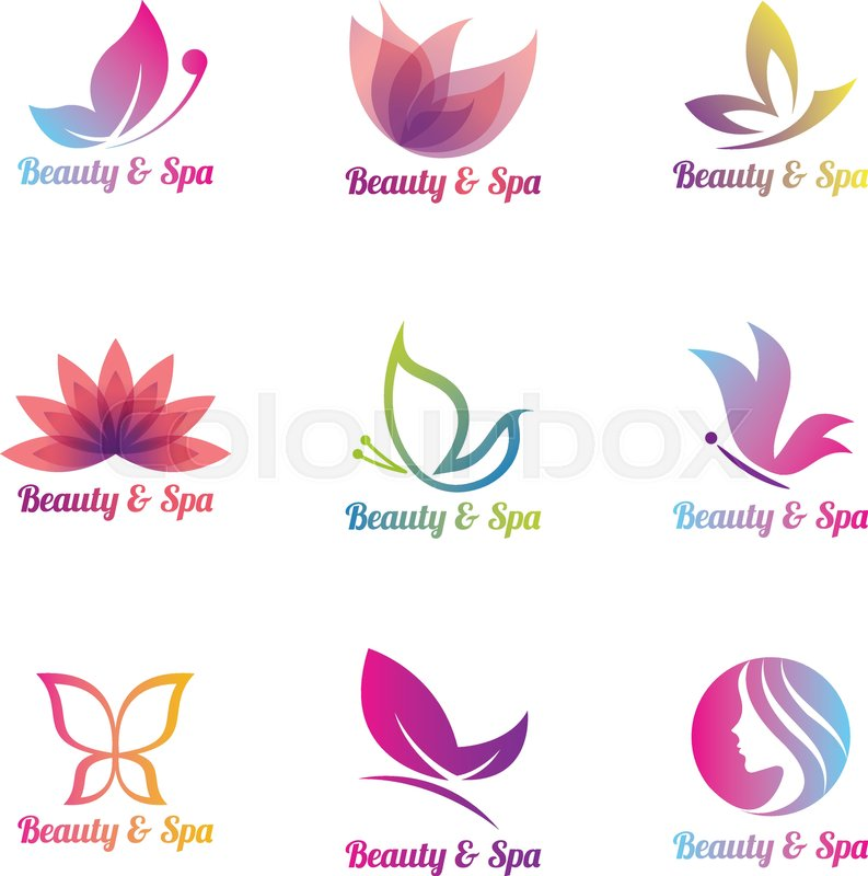 A set of colorfull spa logos | Stock Vector | Colourbox