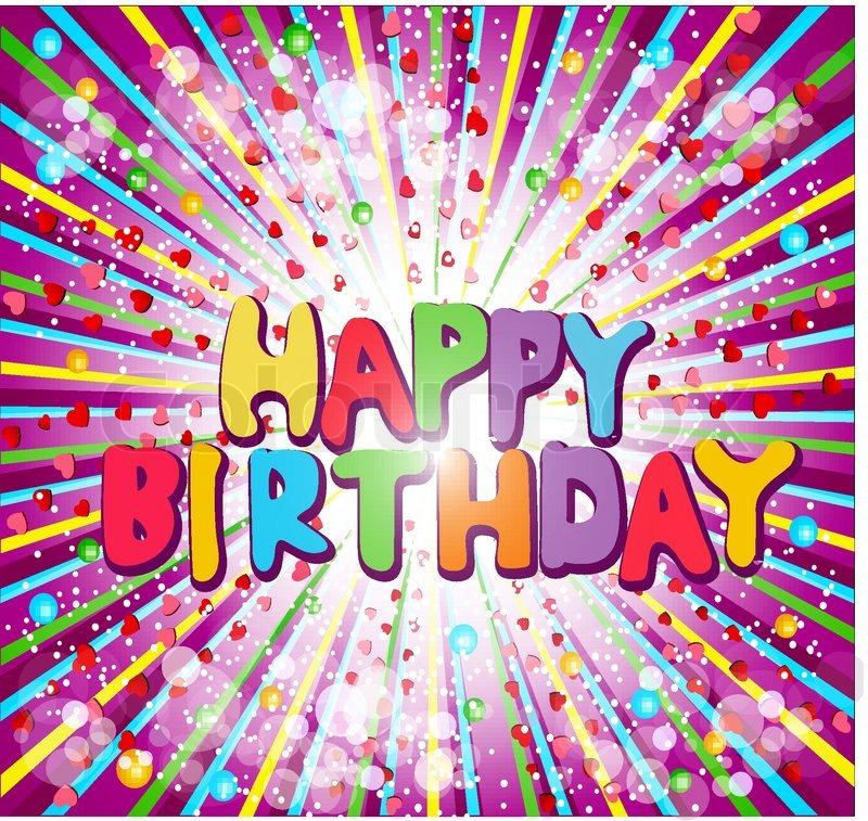 """Vector Background Congratulatory """"Happy Birthday"""""""