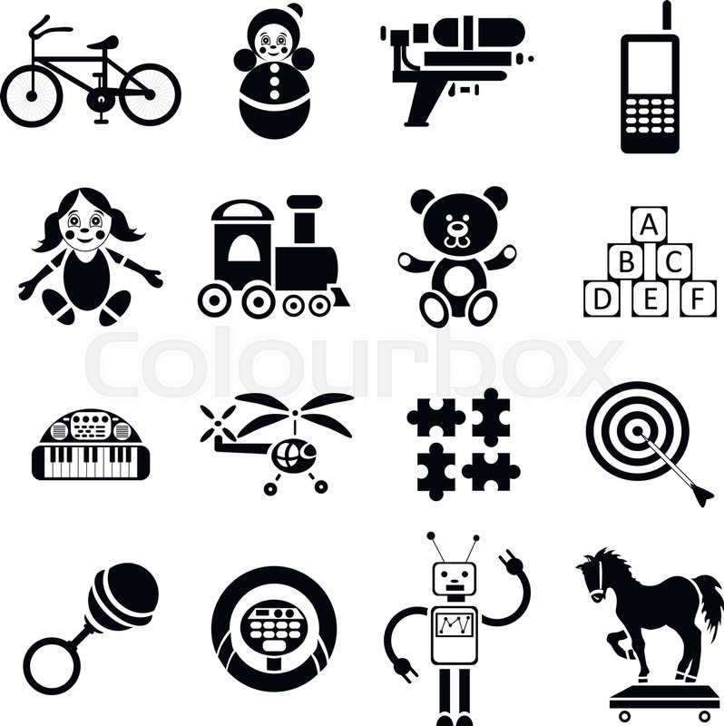 Stock vector of 'icons set in simple style. set collection vector illustration'