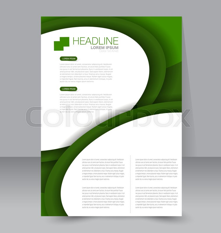Abstract Flyer Design Background Brochure Template To Be Used For