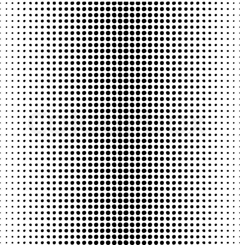 ben day dots template - vector dots pattern on a white stock vector colourbox