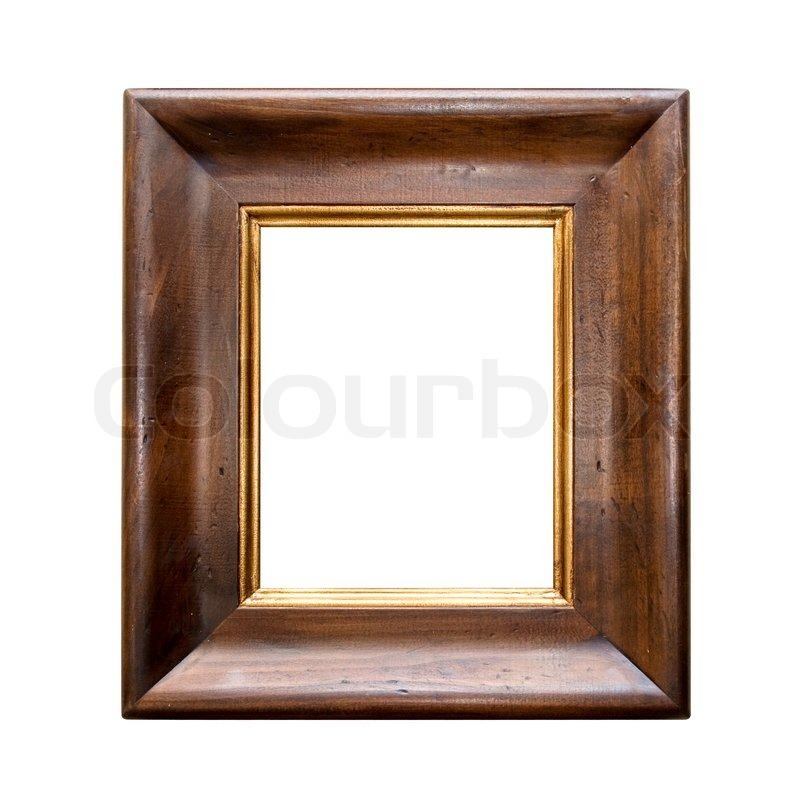 Antique wooden frame isolated on a white background | Stock Photo ...