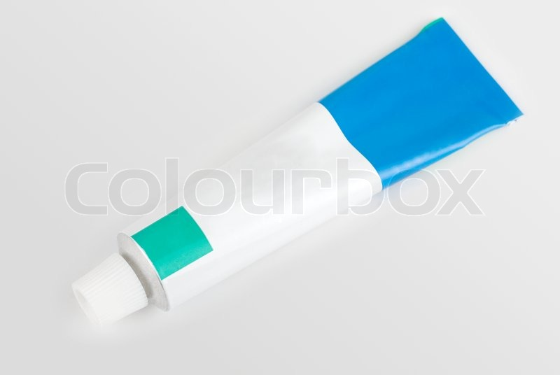 Stock image of 'Cream tube isolated on a white background'