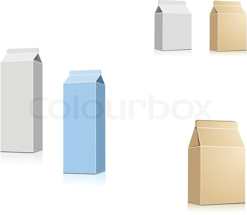 milch oder saft container auf wei vektor isoliert stock vektor colourbox. Black Bedroom Furniture Sets. Home Design Ideas