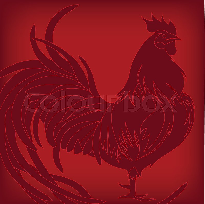 background with red rooster symbol of 2017 on the chinese calendar happy new year 2017 background for your flyers and greetings card