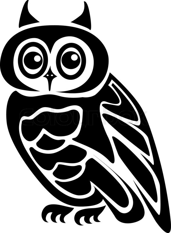 Beautiful Isolated Owl On Background As A Symbol Stock Vector