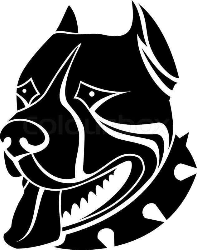 isolated wachhund als symbol oder emblem vektorgrafik colourbox. Black Bedroom Furniture Sets. Home Design Ideas